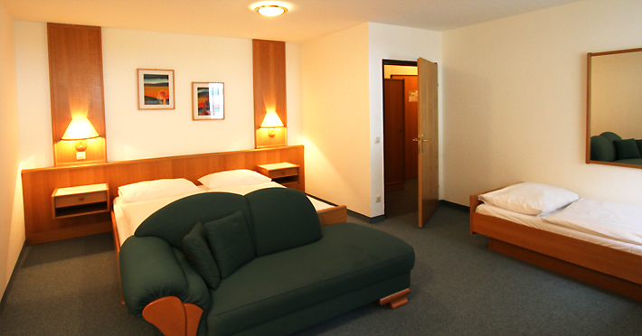 Hotel Ganslhof, Dreibett Zimmer